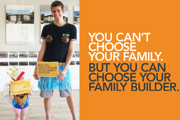 You can't choose your family but you can choose your family builder