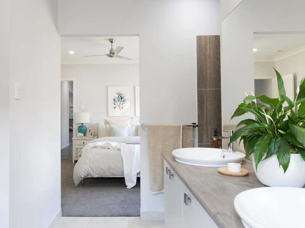 A beautiful open plan ensuite leading to a generous master s