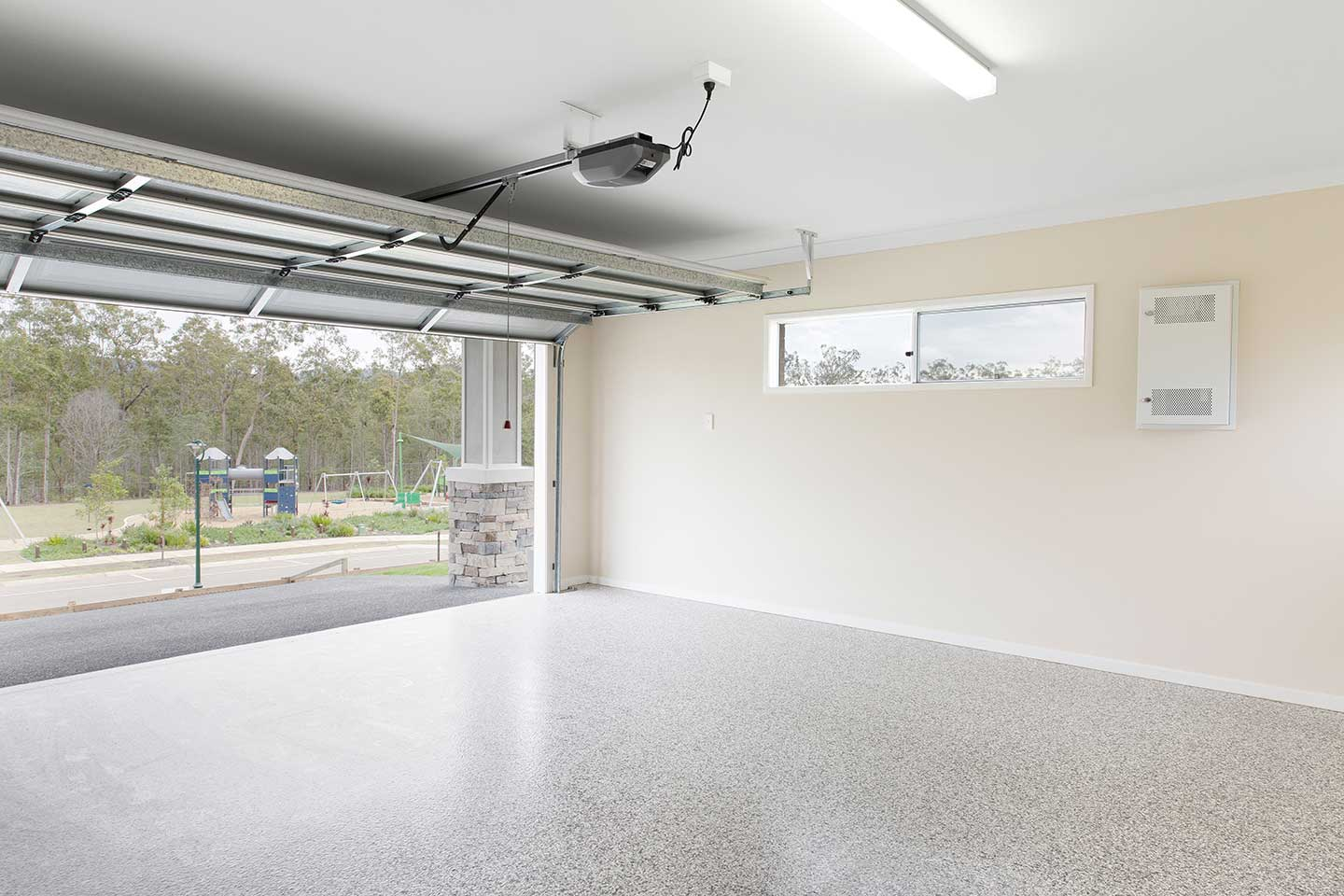 Garage with Epoxy